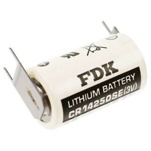 2-Stuck-CR14250SE-FT1-1-2-AA-mit-3er-Print-FDK-SANYO-Batterie-3V-Lithium