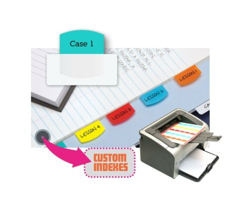 Permanent Adhesive Redi-Tag Laser Printable Index Tabs 1-1//8 x 1-1//4 Inches...