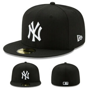 248134a8982 New Era New York Yankees Black White Fitted Hat Classic MLB League ...