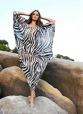 NEW AUTHENTIC MELISSA ODABASH  zebra print  KAFTAN  ONE SIZE    (£430)