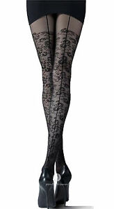Back-Seamed-Tights-By-Knittex-034-WISH-034-20-Denier-Suspender-Tights