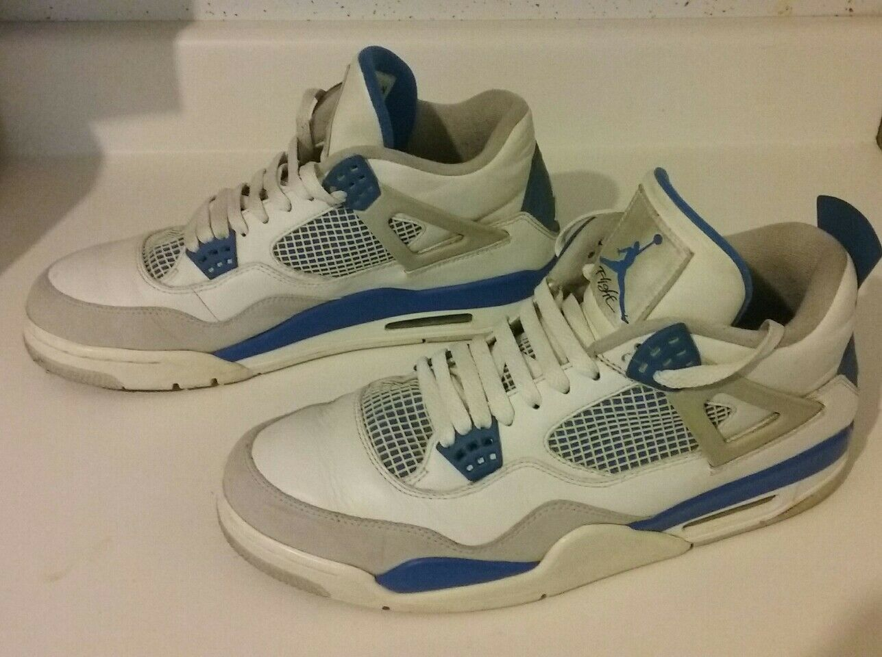JORDAN 4 Zapatos 12 blanco AIR hombre Athletic IV azul blanco 12 4a48bb