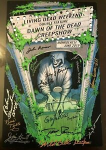 Living-Dead-Weekend-Signed-Poster-11x17-Romero-Zombie-Creepshow