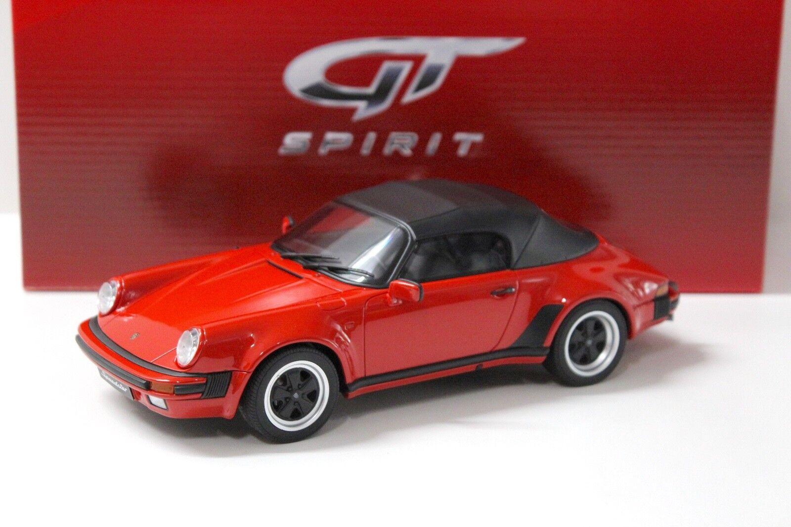 1 18 GT Spirit PORSCHE 911 3.2 Speedster 1989 rosso nuovo in Premium modelloautoS
