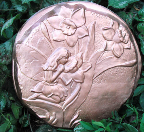 """Fairy stepping stone mold concrete plaster mould 12/"""" x 1.5/"""" thick"""