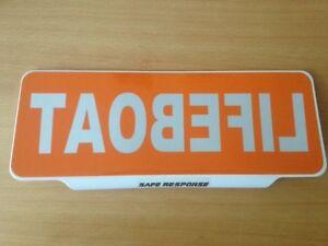 LIFEBOAT-crew-REVERSED-Text-univisor-Sign-Sun-visor-Safe-Response