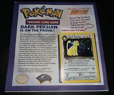 Pokemon Card DARK PERSIAN #17 Mounted Nintendo Power Flyer Black Star Holo Promo