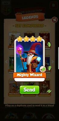 Mighty Ra Coin Master Trading Card Free Virtual Shipping Fast And Easy