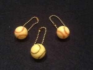 Vintage-Baseball-Pinback-Dangler-lot-of-3-New-New-old-stock-c1950-039-s