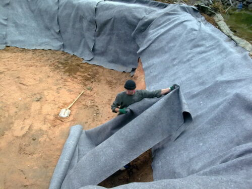 Flies Teich 500g m² Teichvlies Teichbau Gartenteich 10 m² Schutzvlies 2,47€//m²
