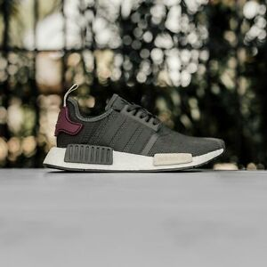 adidas shoes nmd maroon. image is loading adidas-nmd-r1-runner-nomad-utility-grey-olive- adidas shoes nmd maroon