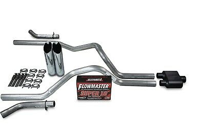 """Chevy GMC 1500 07-14 2.5/"""" Dual Exhaust Kits Flowmaster 50 Series Clamp on Tip"""