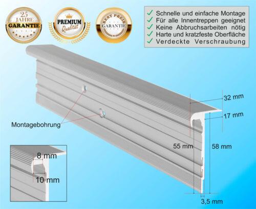 €19,-//m Treppenkantenprofil MULTIVERSAL-32 Aluminium Treppenprofil Treppenkante
