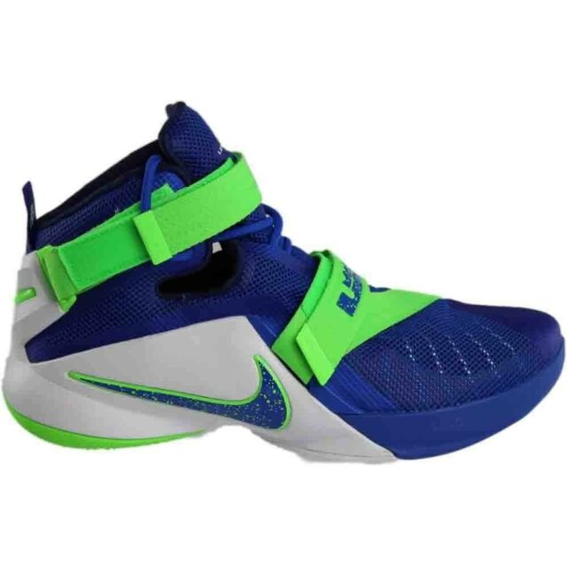 low priced 42e06 c7912 Nike Lebron IX 9 Soldier Sprite Game Blue/Green 749417-601 Mens Basketball