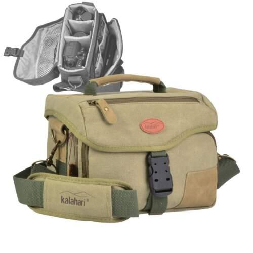 Kameratasche Canvas Kalahari Fototasche K-6 Mata Mata Kamera Tasche