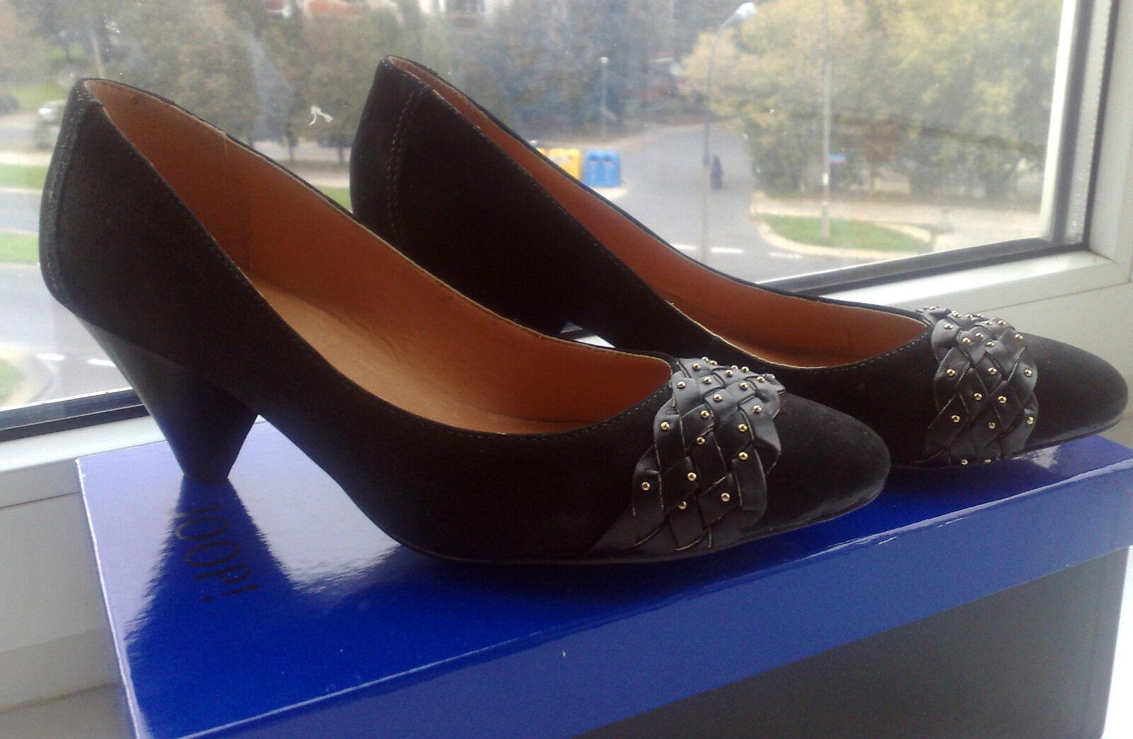 Nouveau VIA UNO Italie Cuir Escarpins Chaussures Talon US 9 EUR 40 magnifique  noir