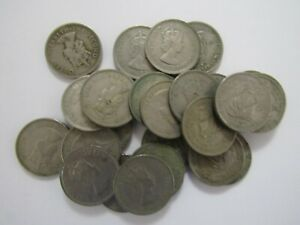 Circulated Durable In Use North & Central America Coins: World New Fashion Lot Of 25 Old British Caribbean States 1965 25 Cent Coins