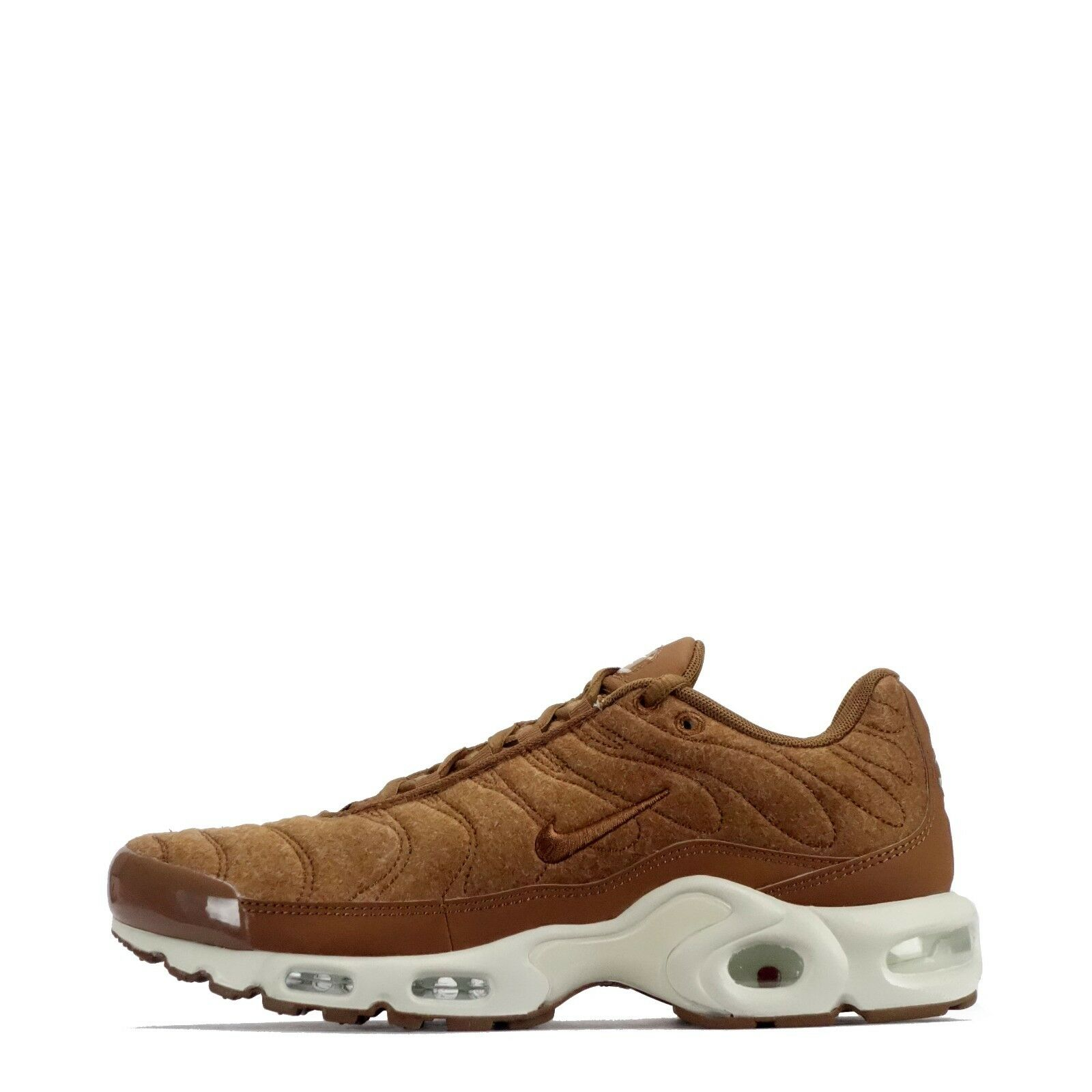 Nike Air Max Plus Quilted TN Tuned Men's Casual Style Trainers Shoes Ale Brown