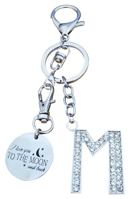 Acrylic Keychains ~ Moon and Stars Key Fob ~ I Love You To The Moon And Back Key Accessories ~ Bag and Backpack Chain ~ Key Ring ~ Lanyard