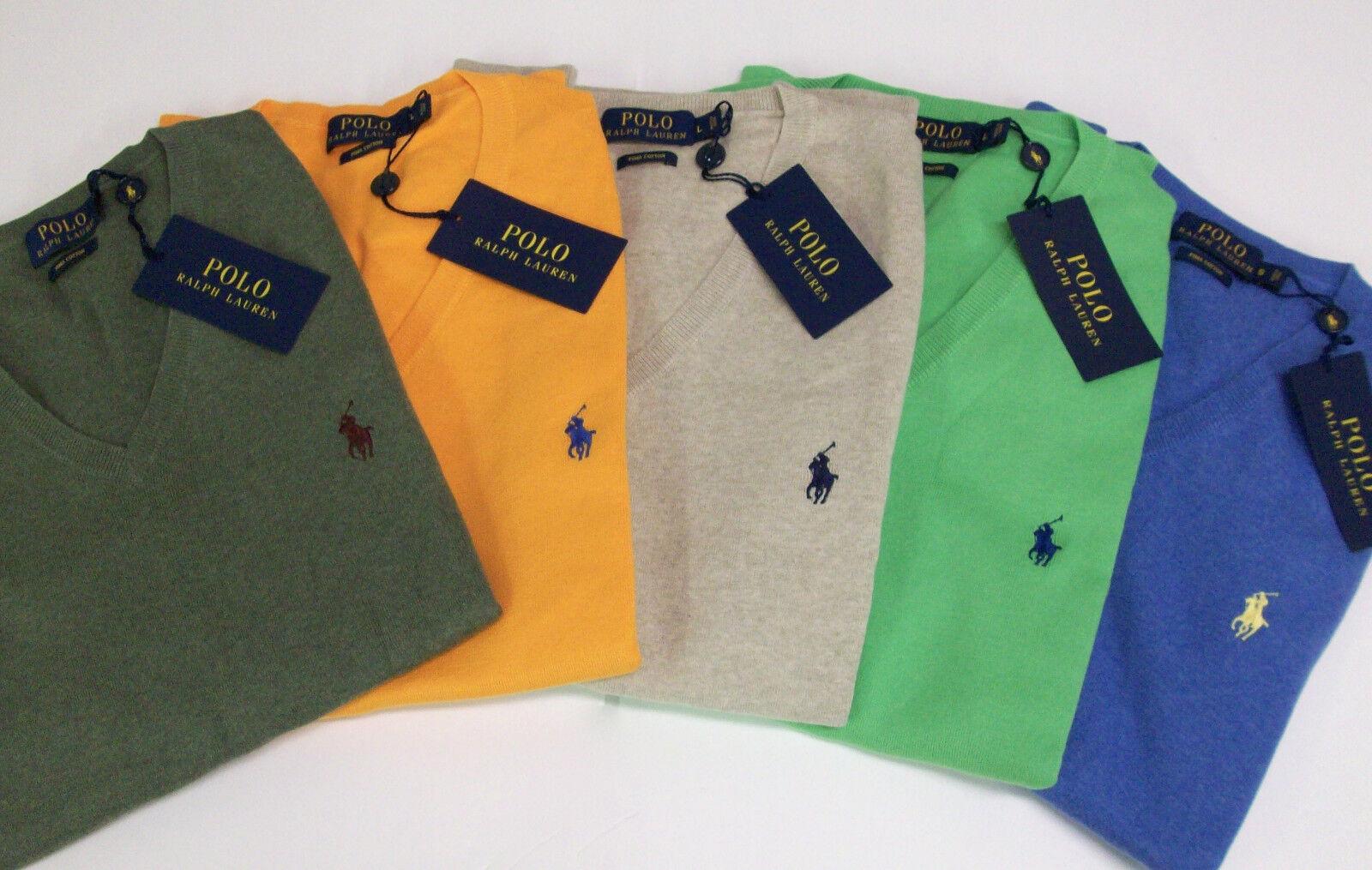 Polo Ralph Lauren V-Neck PIMA Cotton Sweater Vest  85  6 Farbes W  Polo Pony NWT
