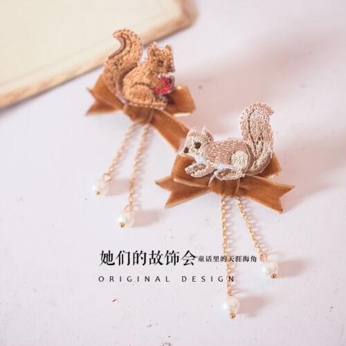 Lolita Cheveux Accessoires Princesse Moe Sweet japon kawaii mignon écureuil Ear Stud ¥