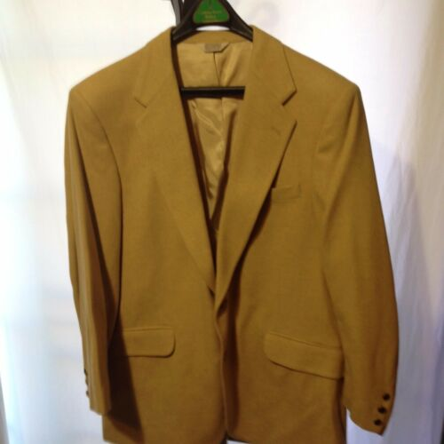 New Academy Award Clothes 100% Camel Hair Sport Coat 42R Pale Gold To Tanish hot sale