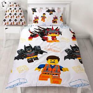 Lego-Film-2-Awesome-Set-Housse-de-Couette-Simple-Reversible-Enfants-Literie
