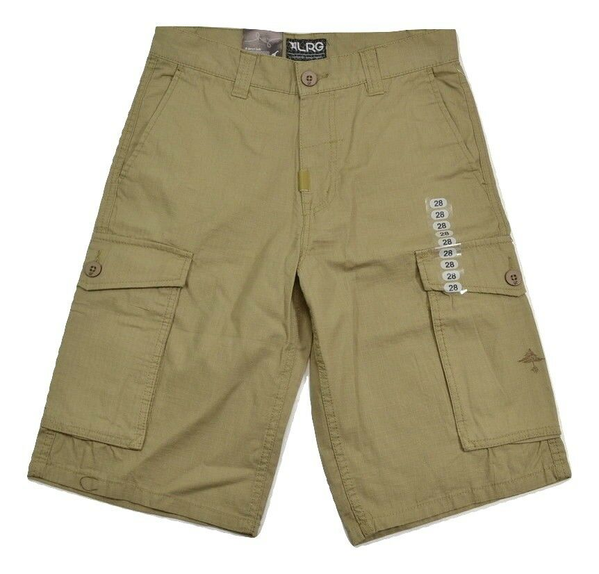 Lrg RC CARGO British Khaki Traditional Rise Loose Leg J156002 (D) Men's Shorts