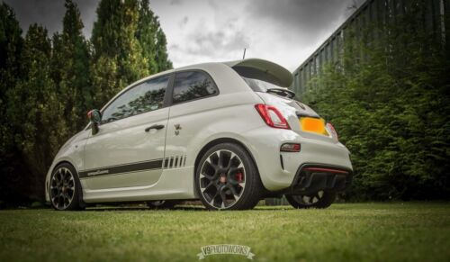 Abarth Competizione Series 4 Carbon Fibre Style Side Stripes Decals 500 595