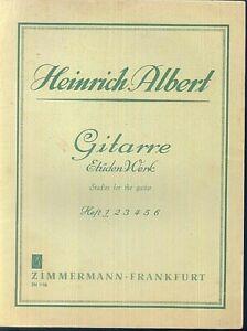 Gitarre-Etueden-Werk-von-Heinrich-Albert-Heft-1