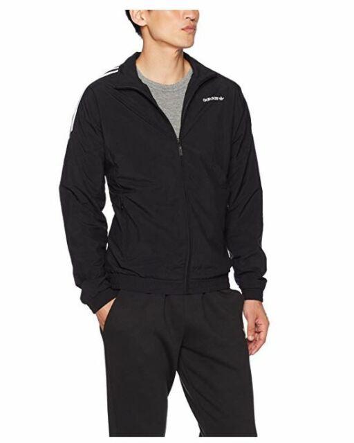 NEW NWT adidas Originals Men's Woven Track Top Full Zip Black Medium BK5923 Cuff