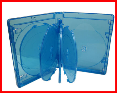 5 Pk New VIVA ELITE Hold 9 Discs Multi Blu-Ray replacement case Box 9 Tray