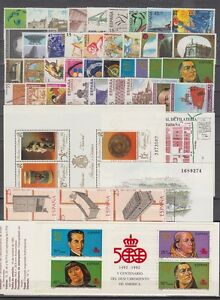 SPAIN-ESPANA-YEAR-1991-COMPLETE-WITH-ALL-THE-STAMPS-MNH