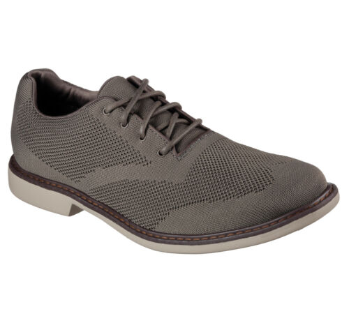 NUOVO Skechers Da Uomo Sneakers Hardee GRIGIO
