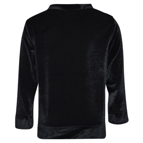 Enfants Filles Salon Costume VELOURS noir velours haut bas de détente Survêtement 5-13Y