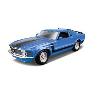 FORD-MUSTANG-BOSS-302-1970-1-24-car-diecast-KIT-model-die-cast-models-blue