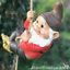 Large Gnome lover gift climbing tree hanging rope ornament decoration sculpture
