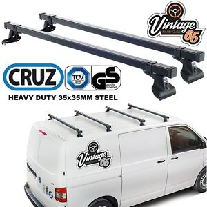 Details about VW Transporter T5 Heavy Duty Roof Bars Roof Rack Cross Bars  Pair TUV Approved