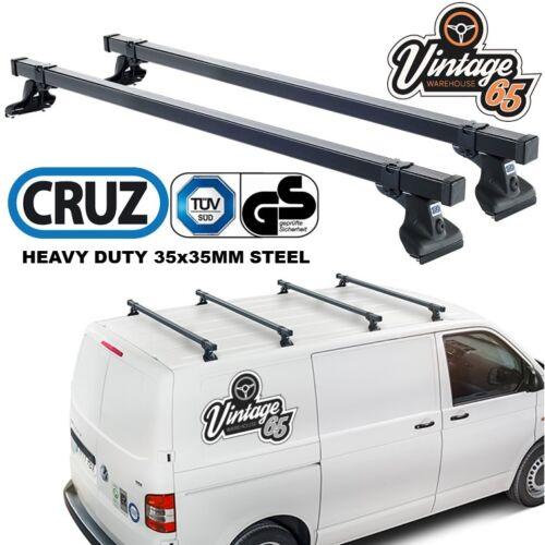 VW Transporter T5 pesados barras de techo Baca barras cruzadas par TUV aprobado