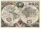 Historische WELTKARTE 1641 - Henricus Hondius (Plano) von Johannes Janssonius und Hondius Henricus (2013, CD)