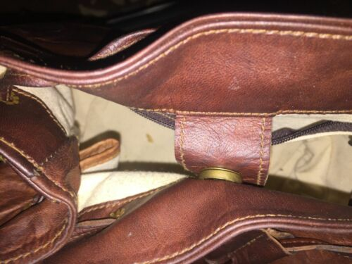 Handmade Natural Brown Pure Goat Leather Vintage Messenger Women Purse Jola Bag