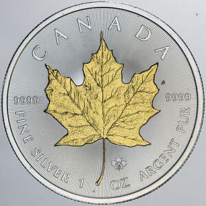 2014-CANADA-5-GOLD-GILDED-MAPLE-LEAF-PRIVY-MARK-1-OZ-999-SILVER-COIN-IN-BOX