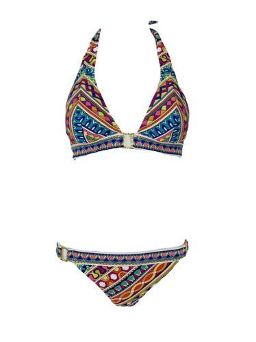 Trina Turk Geometric Printed Bikini Swimsuit Two P