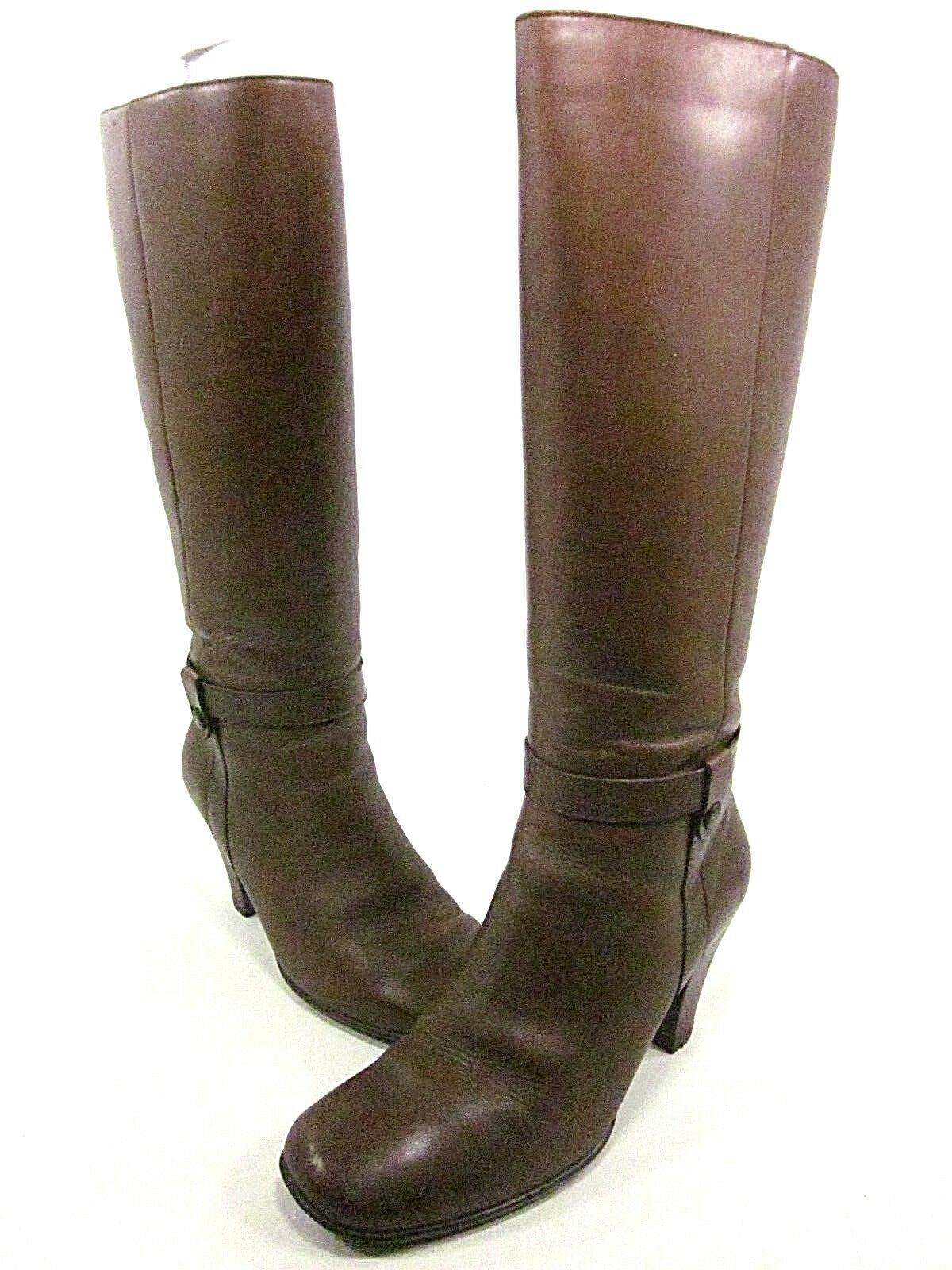 SANTANA, SYDNEY BOOT, WOMENS, COFFEE, US 7.5M, LEATHER, PRE/OWNED