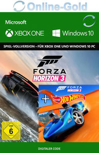 Xbox-One-amp-Windows-10-PC-Forza-Horizon-3-III-Hot-Wheels-DLC-Bundle-Key-DE-EU