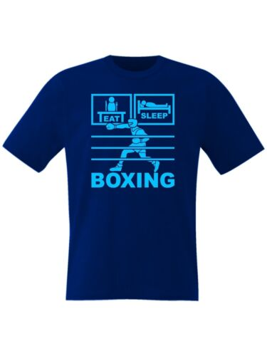 Kids Eat Sleep Boxing T Shirt Ages 3 to 15