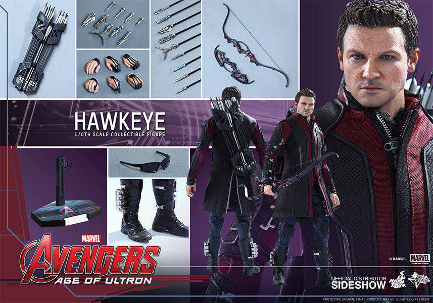 MARVEL Hawkeye Sixth Scale Action Figure Hot Toys Avengers Avengers Avengers Age of Ultron MMS289 60cad9