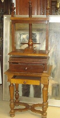 Furniture Rare Beautiful Patina Walnut Linen Press Table W/ Two Drawers Non-Ironing