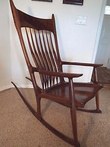 Details about Maloof Inspired Rocking Chair