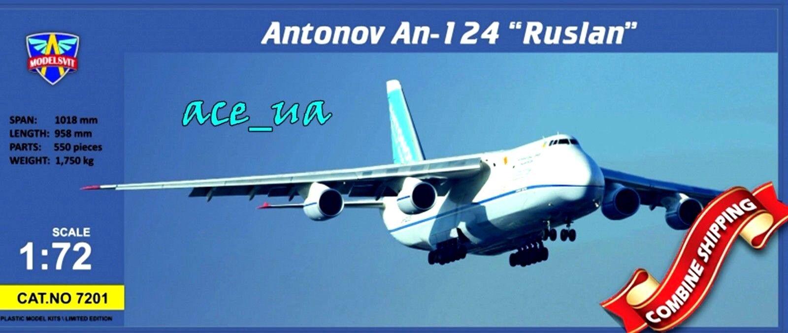 Modelsvit 7201 aviones de carga Antonov An--100 Ruslan Plastic Model Kit 172
